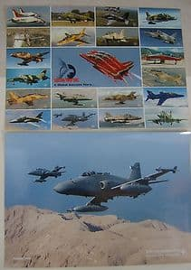Colour Photos/Fact Sheet  x 8 -  BAe Hawk from Early to Late versions
