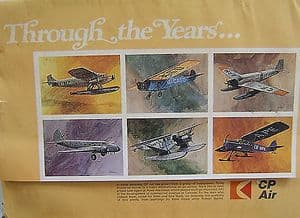 CP Air Original Portfolio of Prints 'Through The Years' - 12 Individual Prints