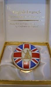 Crummles English Enamel Trinket Box - NRA Great Britain Rifle Team 1984 - Boxed