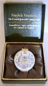 Crummles English Enamels Trinket Box - NRA Australia Match 1988 - Boxed - SOLD