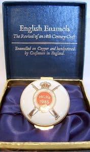 Crummles English Enamels Trinket Box - NRA Palma Match 1985 - Boxed