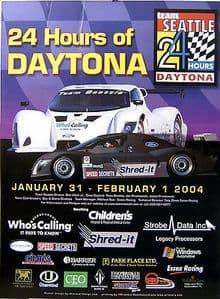 Daytona 24 Hours - Team Seattle  2004  - Official Poster