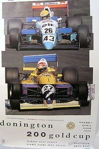 Donington 200 Gold Cup Official Poster - Round 1 1990