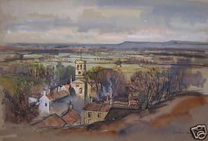 J.Barrie Haste - Vale of Mowbray, NorthYorks - Watercolour