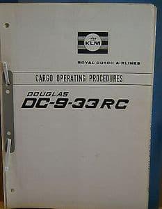 KLM Douglas DC-9-33RC Cargo Operating procedures - 1968