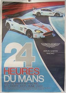 Le Mans 24 Hours - Aston Martin Racing Team  2008  - Official Poster - SOLD
