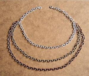 Majique 3-Strand Coloured Chain Necklace - Brand New