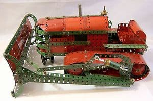 Meccano 1960s Constructed Set - Very Large Bulldozer - mainly assembled. - SOLD