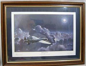 Moonlit Lancaster - Brian Petch - Signed Bill Reid VC - Dambuster Sqn  - 434/500