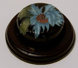 Moorcroft Pottery Sea Holly Paperweight - Emma Bossons - SOLD