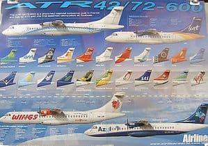 Original Airliner World  Folded Colour Poster - ATR 42/72-600 - SOLD