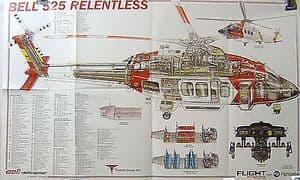 Original Flight Folded Cutaway Poster - Bell 525 Relentless
