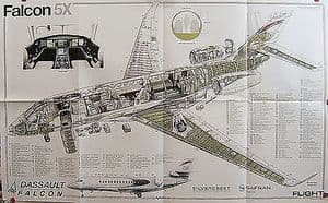 Original Flight Folded Cutaway Poster - Falcon 5X