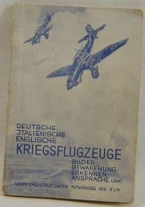 Original German Aircraft Recognition Booklet - Published 1941 - VGC