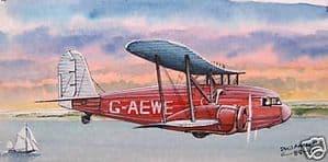 Original Watercolour - Curtiss AT-32 Condor - SOLD
