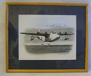 Original Watercolour Painting - Short Sunderland ML774 F-2, 422SQN RCAF