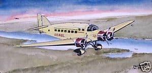 Original Watercolour - Savoia-Marchetti S.M.73P -  SOLD