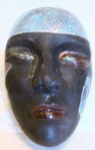 Raku Pottery Face Mask
