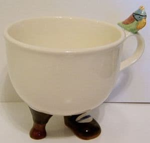 Rising Hawk Lustre Pottery  Long John Silver Cup with Parrot - with label - SOLD