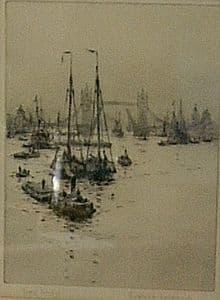 Roland Langmaid - Tower Bridge - 1920s - SOLD