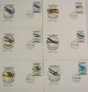 Russian First Day Covers - Set of 6 - Important Early Russian Aircraft