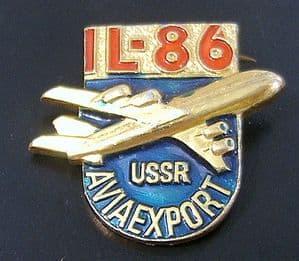 Russian Pin Badge - Aviaexport Ilyushin IL-86