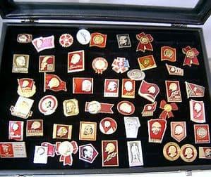 Russian Pin Badge - Lenin Collection No.1 - 40+ Original Soviet Badges
