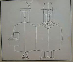 Saul Steinberg - Mr. & Mrs. - Black & White Print