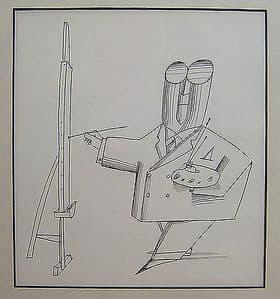 Saul Steinberg - The Commercial Artist. - Black & White Print