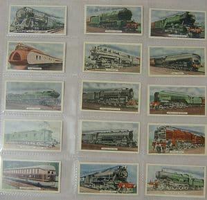 State Express - Speed - Locomotives  - Part Total Set - 15 cards