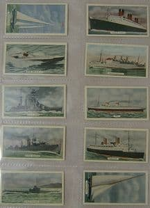 State Express - Speed - Ships  - Part Total Set - 10 cards