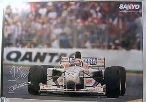 Stewart Ford F1 Team Sanyo Official Poster - Barrichello/Magnussen - 1997