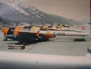 Swiss Air Force Venom FB54 - original colour photo