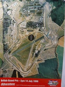 The Official Poster British Grand Prix Silverstone 14 July 1996 - SOLD