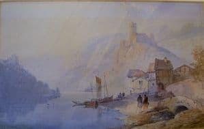 Thomas Leeson Rowbotham Italian Scene - Original Watercolour - Signed - SOLD