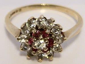 Vintage Garnet 9ct Gold Ladies Ring - SOLD