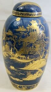 W&R Carlton Ware Barge Ginger Jar - One of a Pair - early 1920s - SOLD