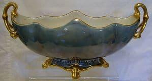 W & R Carlton Ware Blue Lustre Gondola Large Bowl  - Early 1900s - SOLD