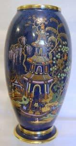 W & R Carlton Ware 'Chinese Tea Garden' Vase - 1920s - SOLD