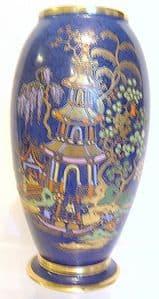 W & R Carlton Ware - 'Chinese Tea Garden' Vase - 1920s - SOLD