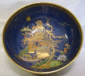 W & R Carlton Ware Large Temple Bowl - 1920s