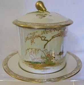 W & R Carlton Ware - Mikado Preserve Pot & Stand - 1920s - SOLD