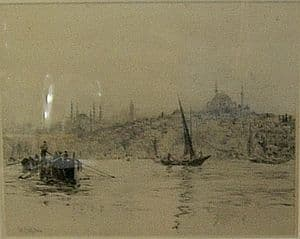 W.L.Wyllie - View on the Bosphorus - SOLD