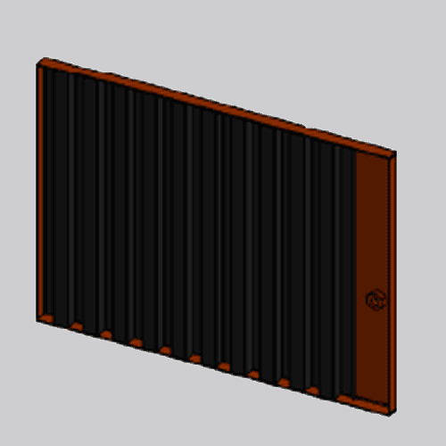 18581FOB - Front Grille Panel