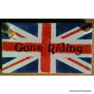 'Gone Riding' Plaque