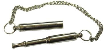 Acme 535 Brass Nickel Plated 'Silent Dog Whistle' With Protective End Cap