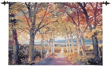Autumn Vista - Fine Woven Tapestry Wallhanging
