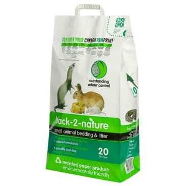 Back 2 Nature Small Animal Bedding & Litter 20L