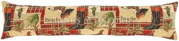 Beagle Red Tartan - Fine Tapestry Draught Excluder