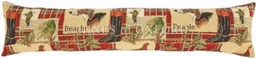 Beagle Red Tartan - Fine Tapestry Draught Excluder - Extra Long